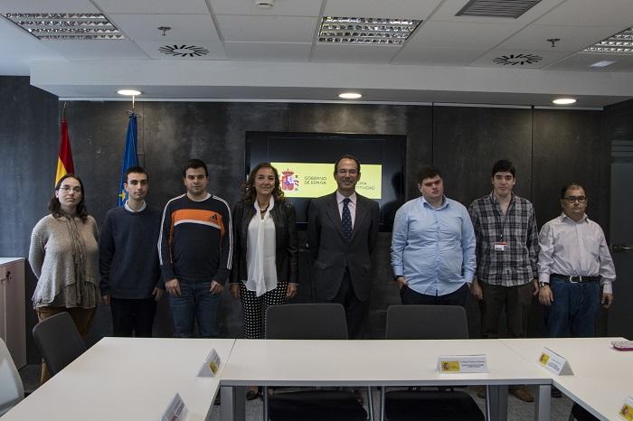 La Secretaria de Estado de I+D+i recibe a los alumnos de Envera que realizan sus prácticas en el Ministerio de Economía