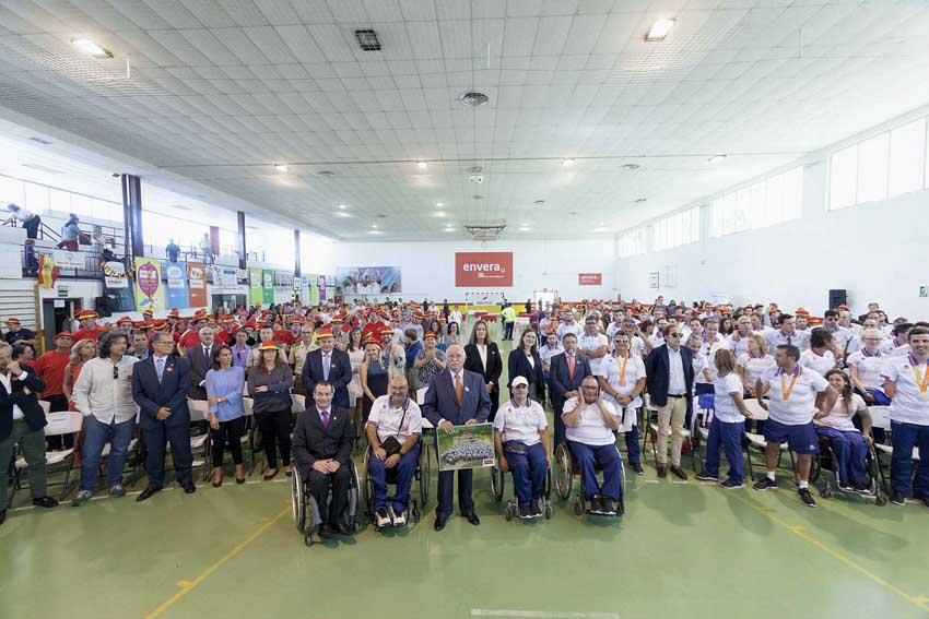Los paralímpicos españoles se suman a la celebración de los 25 años de Envera con el Deporte