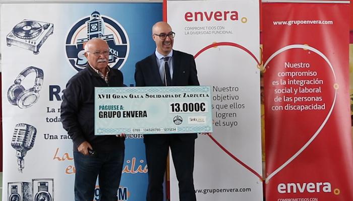 Envera recibe la taquilla solidaria de la Gran Gala de Zarzuela organizada por Radio Sol y Sinfolírica
