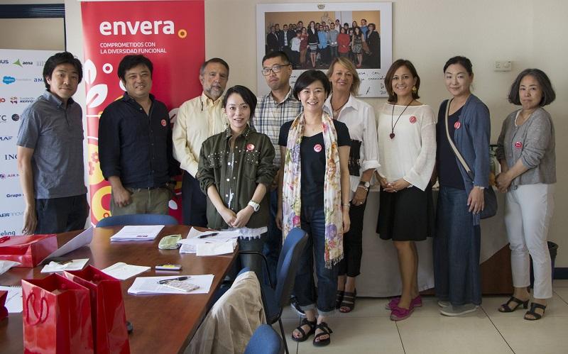 Académicos de universidades de Japón visitan Envera como referente en discapacidad intelectual