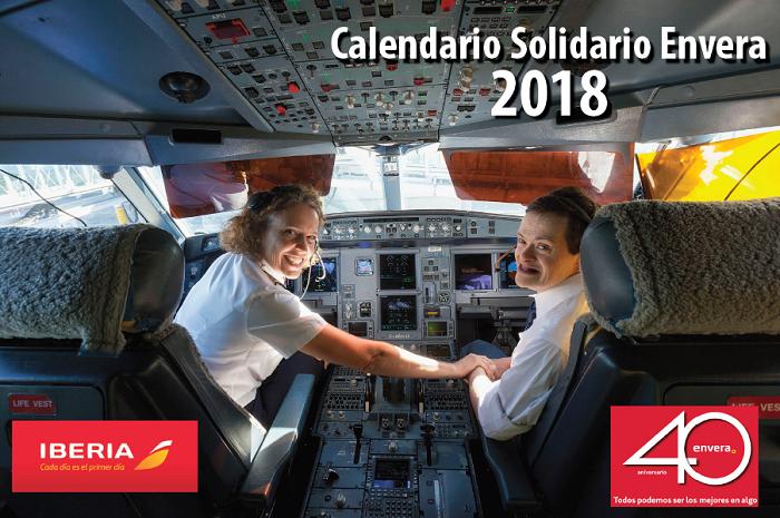 Las personas con discapacidad de Envera y la compañía Iberia, protagonistas de nuestro calendario solidario 2018