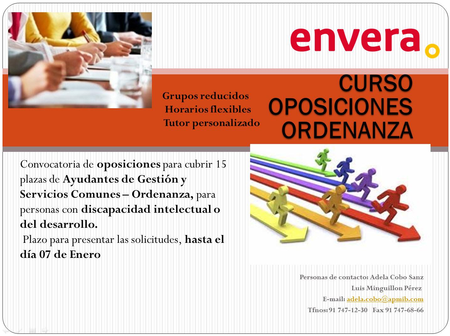 Convocatoria de oposiciones para cubrir 15 plazas de Ayudantes de Gestión y Servicios Comunes – Ordenanza