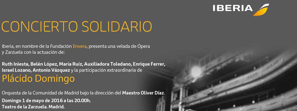 Plácido Domingo canta por Envera