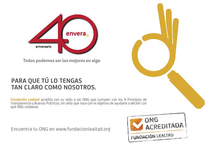 La Asociación Envera renueva su sello de transparencia con la Fundación Lealtad