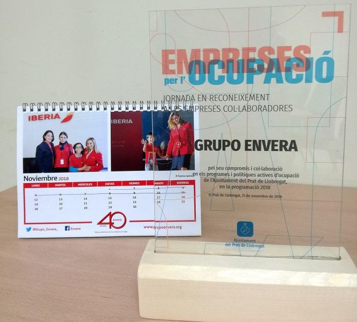 El Ayuntamiento de El Prat reconoce la colaboración de Envera para la integración laboral de personas con discapacidad
