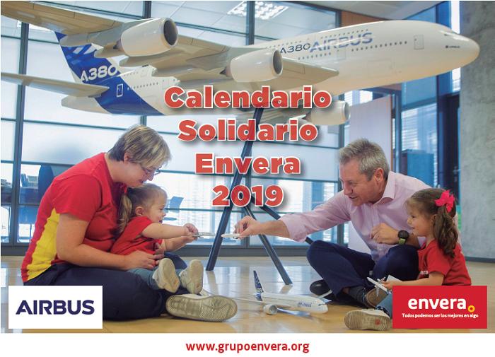 Las personas con discapacidad de Envera y la compañía Airbus, protagonistas de nuestro calendario solidario 2019