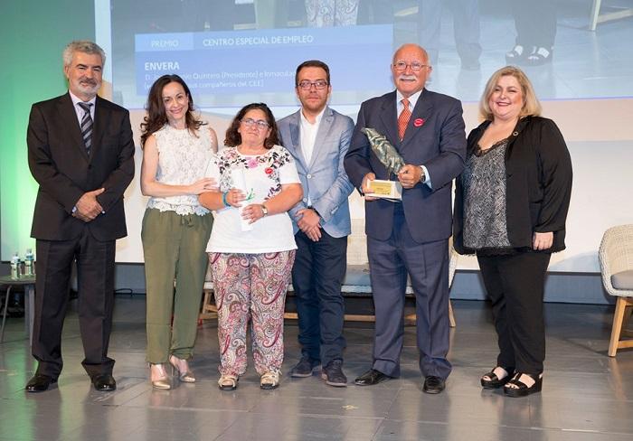 Envera recibe el Premio Nacional a la Excelencia en la Inclusión y la Prevención de Riesgos Laborales