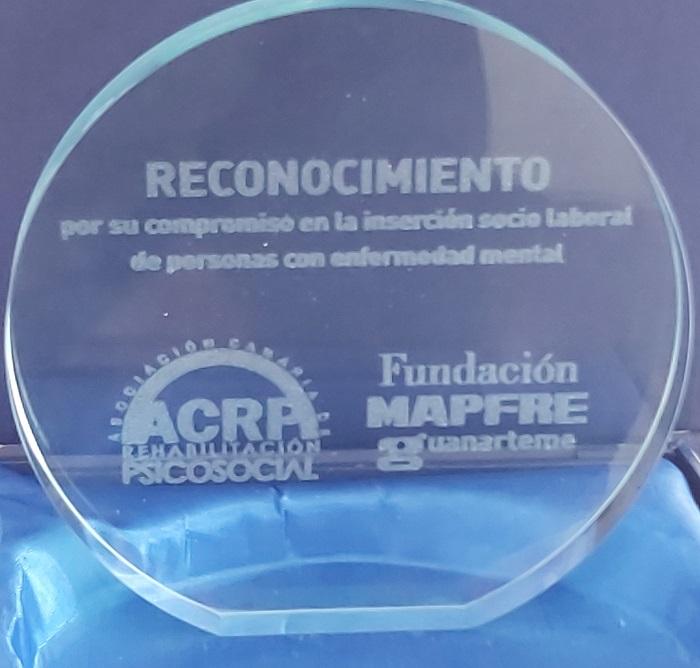 Premio a Envera por su compromiso en la inserción sociolaboral de personas con enfermedad mental