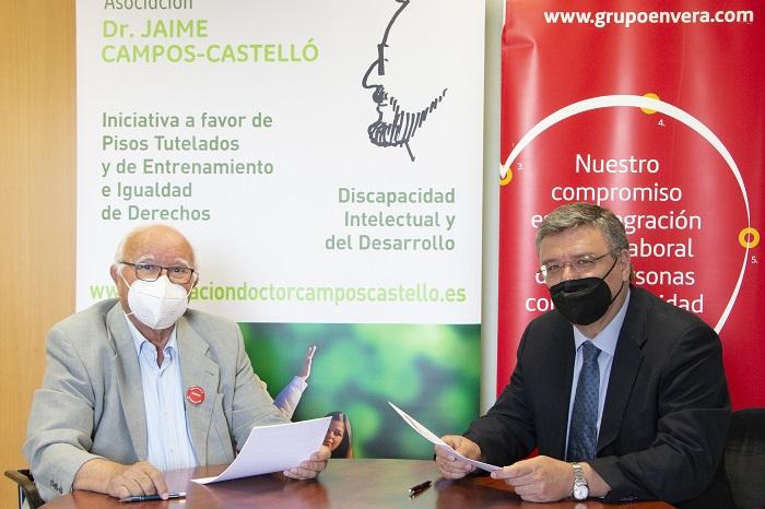 Envera y la Asociación Doctor Jaime Campos-Castelló colaboran en la integración de personas con discapacidad intelectual