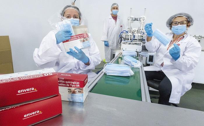 Las mascarillas quirúrgicas de Envera reciben un nuevo certificado que ratifica su calidad